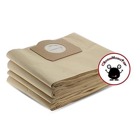 cleanmon ster bolsas de aspiradora filt ertueten compatible con Kärcher 6.959 – 130.0 (5 unidades)