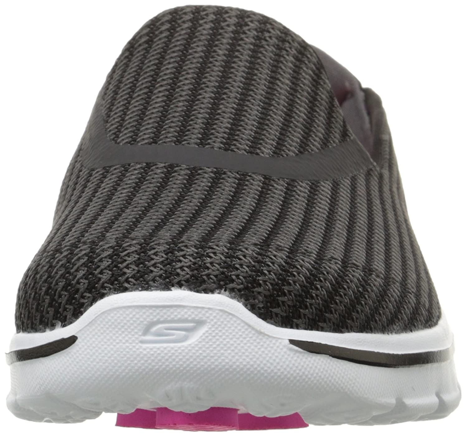Skechers Performance Women's Go Walk 3 Slip-On Walking Shoe B00LL2OIV8 9.5 XW US|Black/White