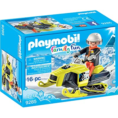 PLAYMOBIL Snowmobile Building Set: Toys & Games