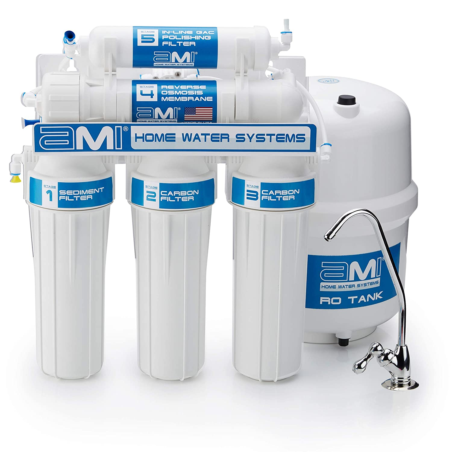 With Cover Counter Top Reverse Osmosis 5 Stage Water Filtraton System 200 GPD