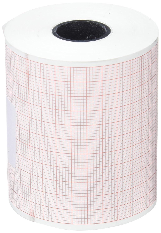 tecnocarta ri3706003016e rollo de papel térmico para ECG para Cardioline Delta 1/3Plus, 60mm x 30m, juego de 4piezas
