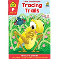 School Zone - Tracing Trails Workbook - Ages 3 to 5, Preschool to Kindergarten, Pre-Writing, Intro to Shapes, Alphabet, Numbers, and More (School Zone Little Hand Helper Book Series)