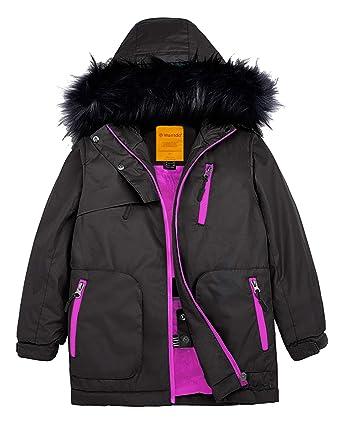 7d96b9fea Wantdo Girls Waterproof Ski Jacket Parka Outdoor Jacket Windproof Warm Winter  Coat Black 4/5