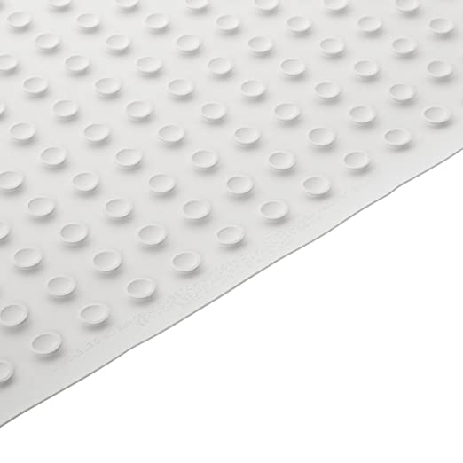 "BOX OF 4 Rubbermaid 7035-04 WHITE Safti-Grip Medium Bath Mat Vinyl 14 x 24/"" NEW"