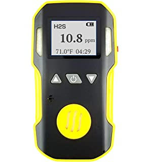 Hydrogen Sulfide H2S Detector Meter by FORENSICS | Professional | Water, Dust & Explosion Proof