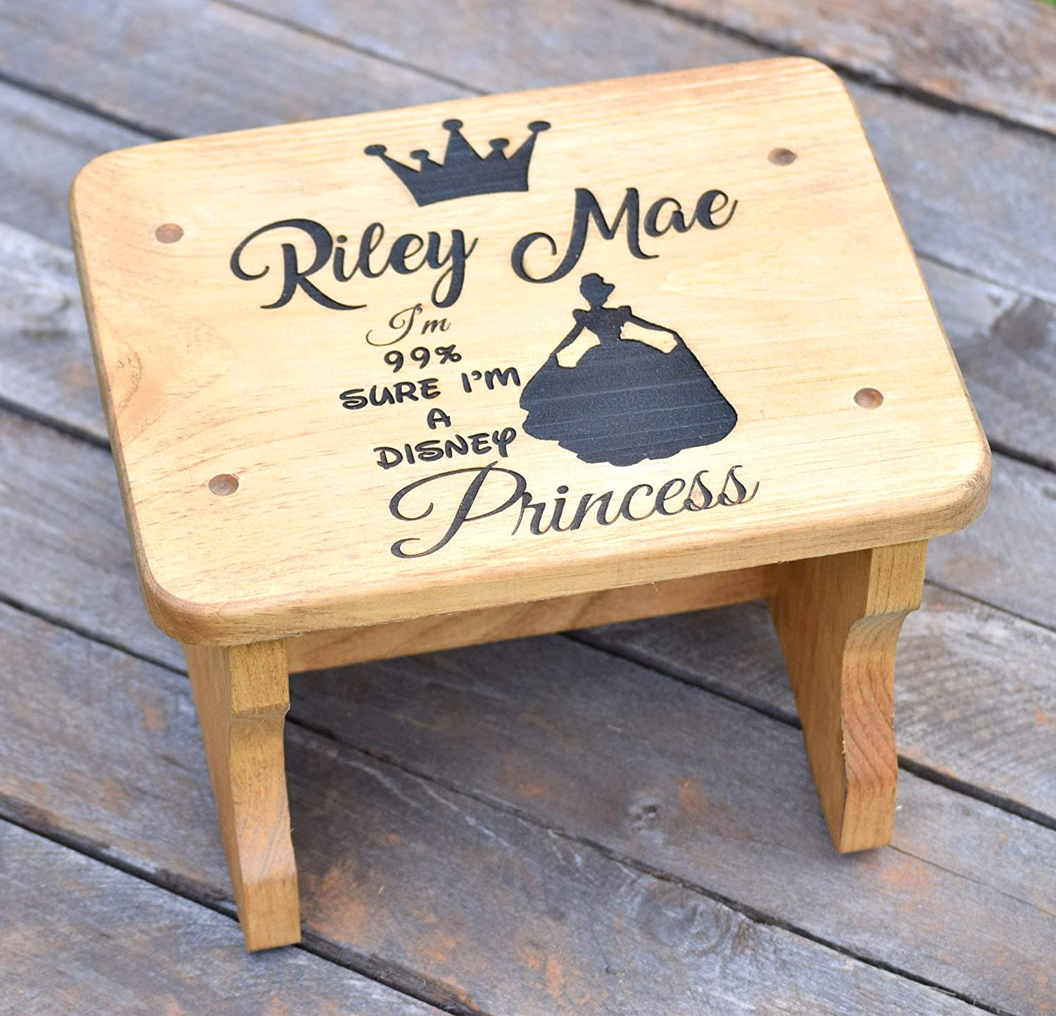 Swell Amazon Com Disney Princess Wood Stool Toddler Step Stool Ibusinesslaw Wood Chair Design Ideas Ibusinesslaworg