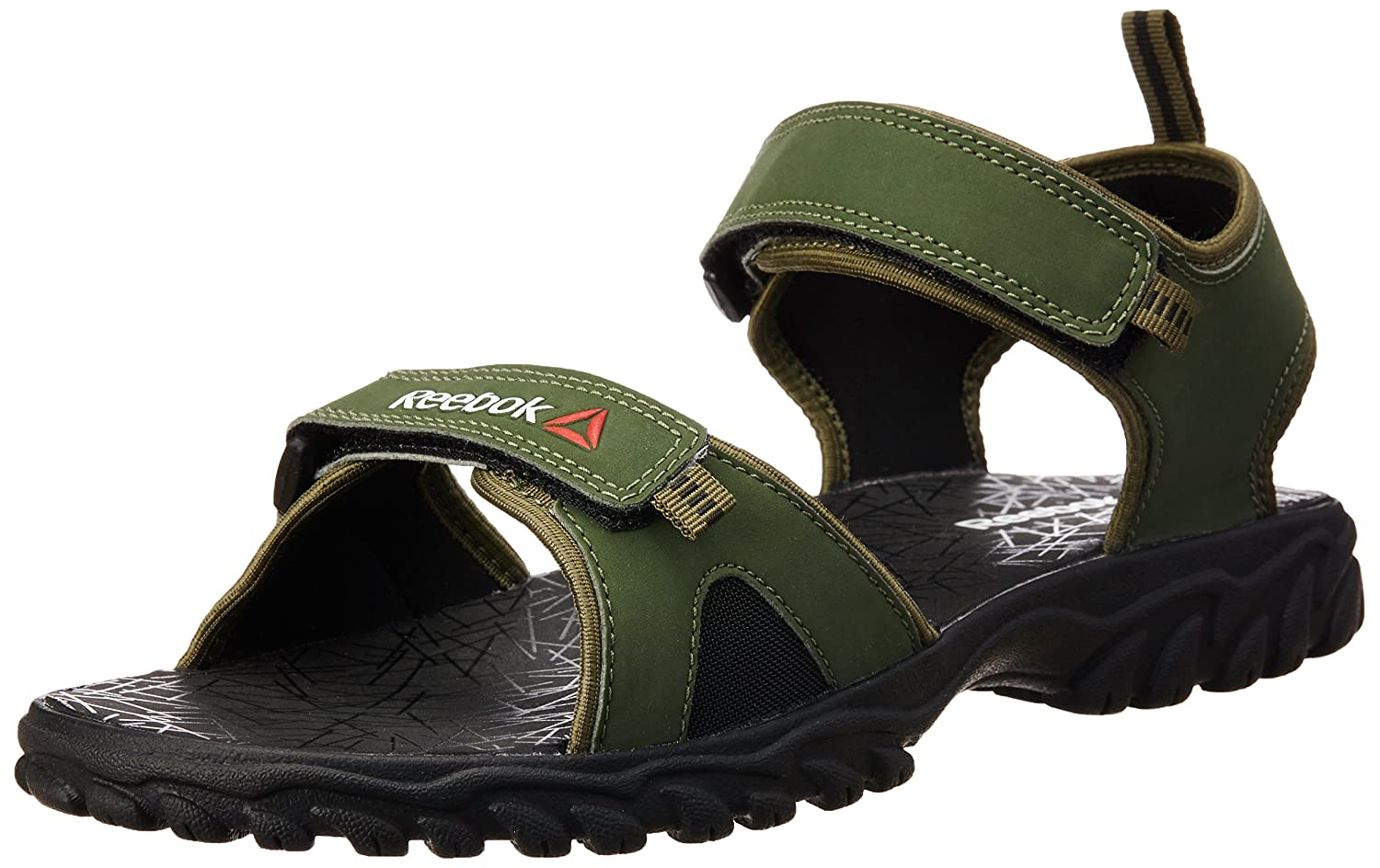 aef92cb3b1cfea Reebok Men s Aztrix Primal Green and Black Sandals - 11 UK India (45.5  EU)(12 US)  Buy Online at Low Prices in India - Amazon.in