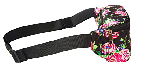 5c6c6ce55567 WODODO Pattern Floral Print Fashion Cute Fanny Pack Women Rave Festival  Party Hiking Travel Hip Packs