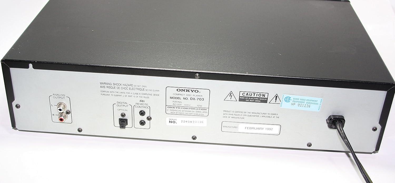ONKYO DX-703 COMPACT DISC PLAYER CD Players Electronics lparsa.com