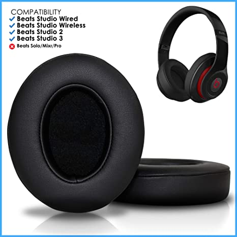 91180c38850 Wicked Cushions Upgraded Beats Replacement Ear Pads - Compatible with  Studio Wired B0500 / Wireless B0501