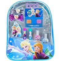 Townley Girl Disney Frozen Backpack Comsetic Set, Includes: Lip Gloss Compact, Hair Bows, Nail Polish, Nail File, Lip Balm, Toe Spacer, Nail Stickers