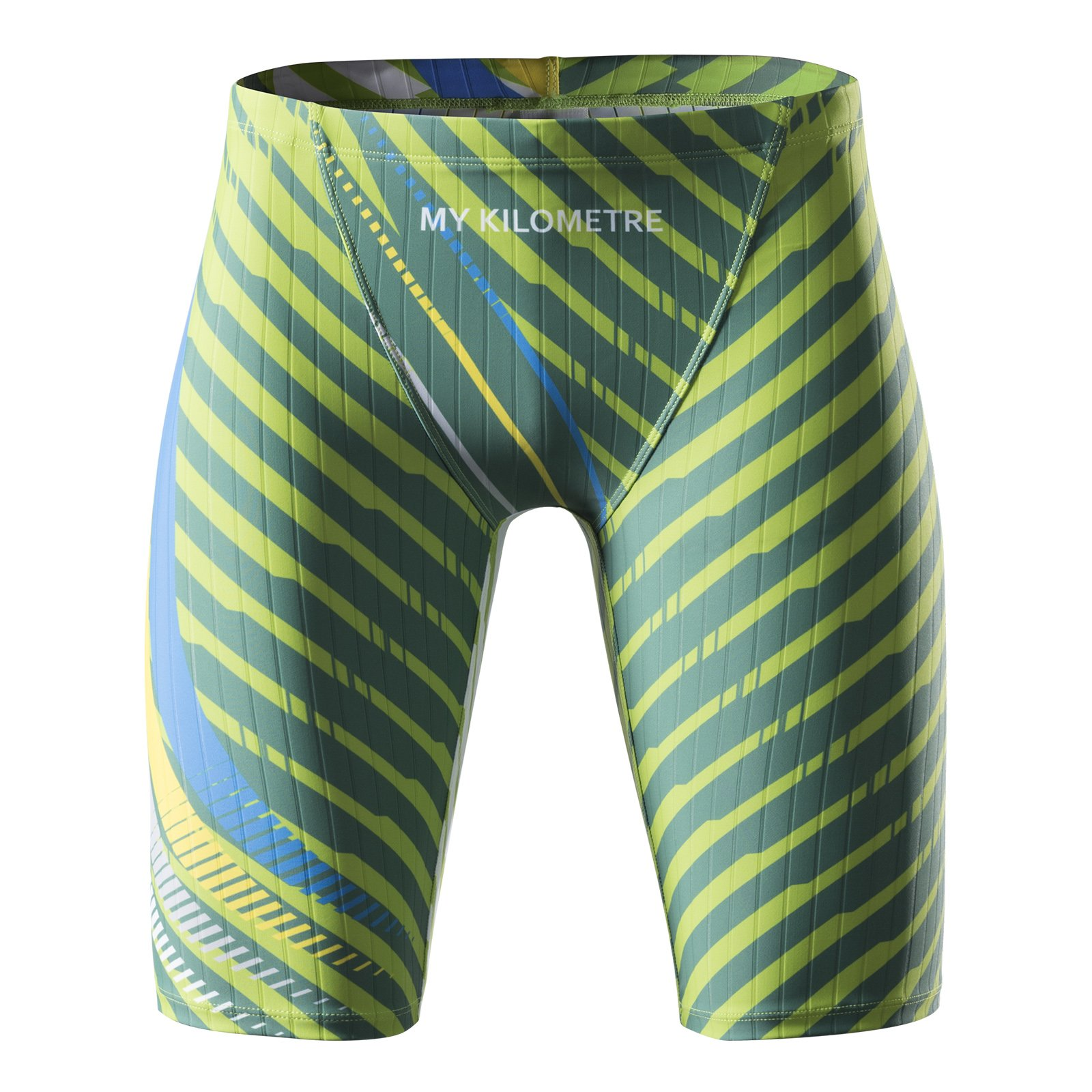 e21a04c195 MY KILOMETRE Jammer Swimsuit Mens Solid Swim Jammers Endurance Long Racing  Training Swimsuit product image