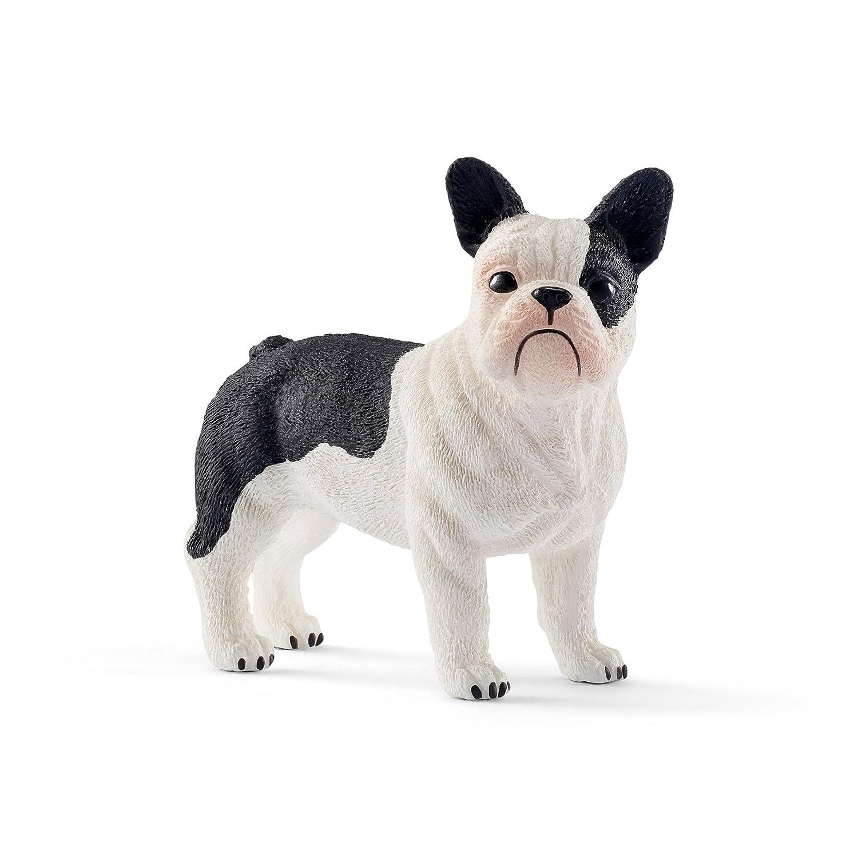 Schleich-13877 Bulldog francés, Color Negro, Blanco (13877)