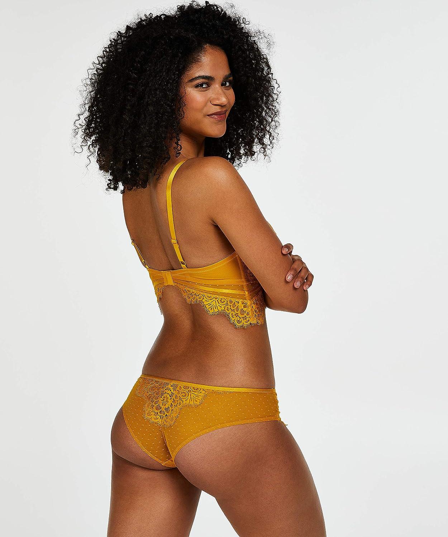 HUNKEM/ÖLLER Damen Brazilian Marilee vollst/ändig mit Spitze Versehen