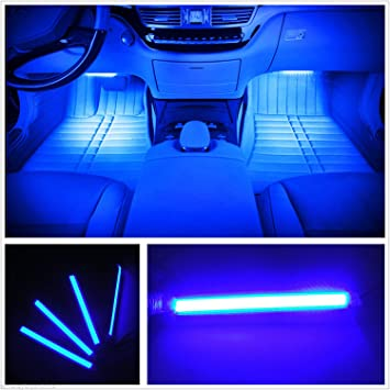Ice-Blue LED Car Interior Charge Footwell Floor Decorative Lamp Atmosphere Light