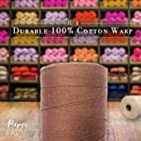 100% Cotton Loom Warp Thread (Brown), 8/4 Warp Yarn
