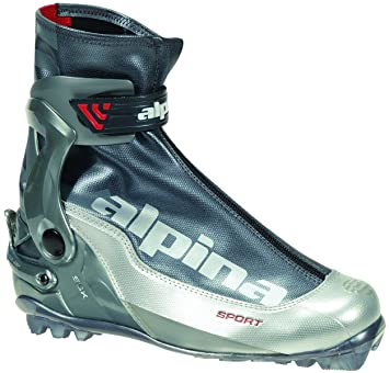 Alpina SSK Sport Series CrossCountry Nordic Skate Ski Boots Silver - Alpina nordic