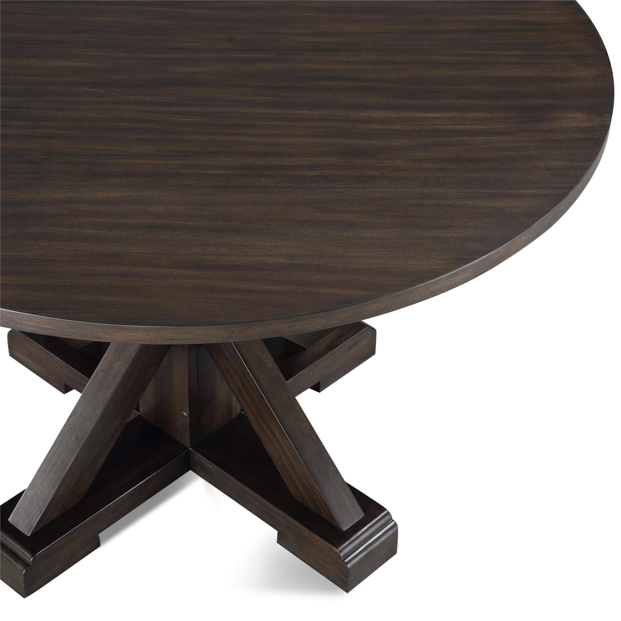 Dorel Living DA8135T Lanley Round, Rustic Brown Dining Table, by Dorel Living (Image #3)
