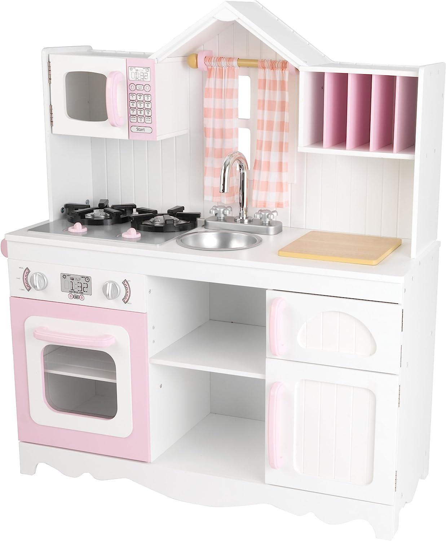 Amazon Com Kidkraft 53222 Modern Country Kitchen Toy Toys Games