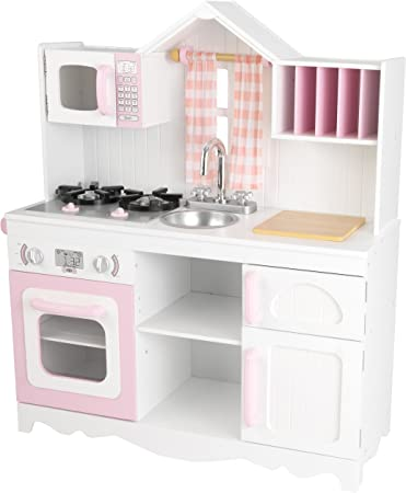 Kidkraft 53222 Cucina Giocattolo In Legno Per Bambini Modern Country Rosa E Bianco Amazon It Giochi E Giocattoli