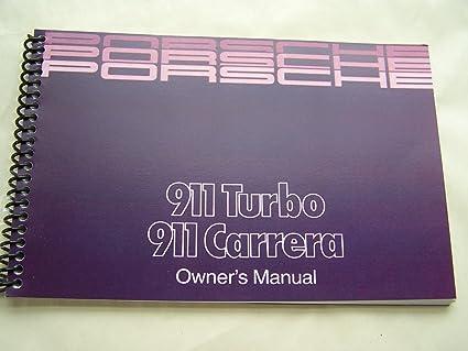 1988 PORSCHE 911 CARRERA OWNERS MANUAL 911 TURBO new factory reprint