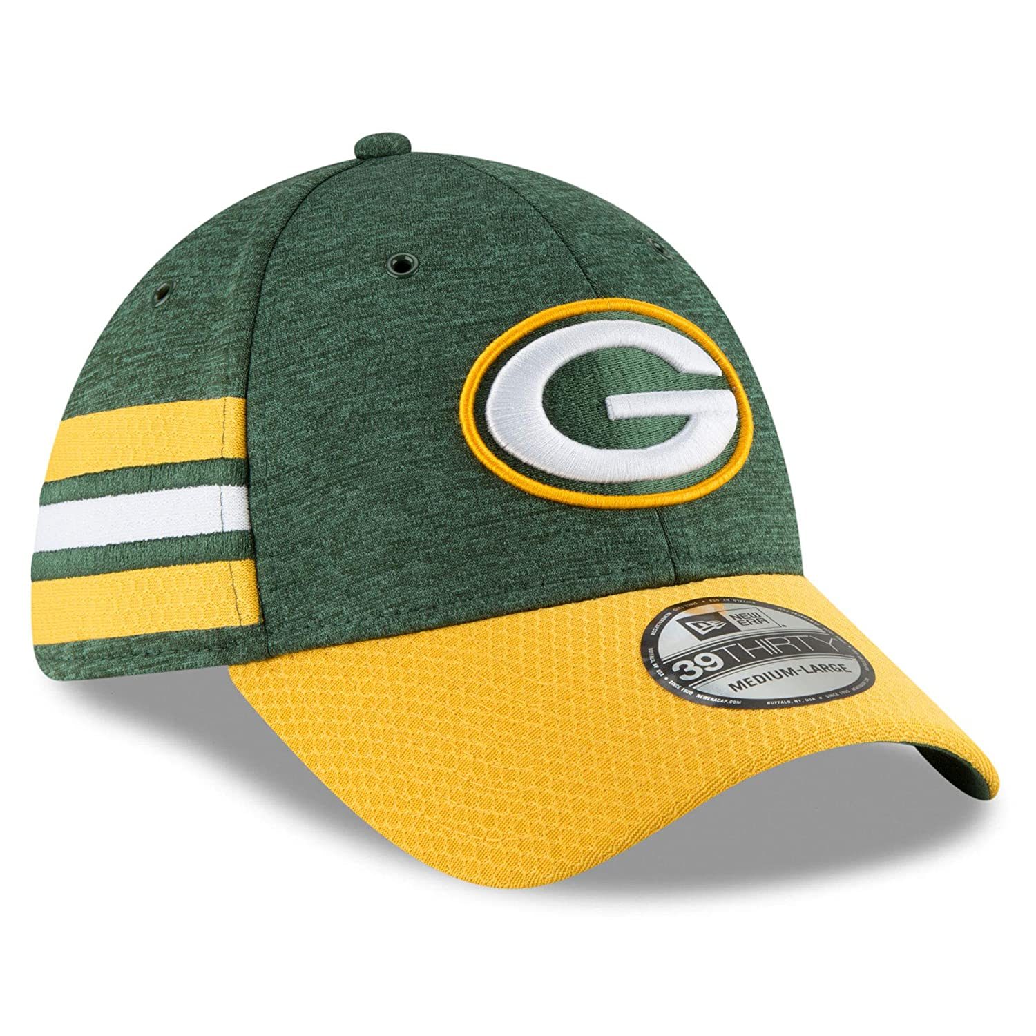 Amazon.com  New Era 2018 39Thirty NFL Green Bay Packers Sideline Home Hat  Cap 11763387  Clothing 69c47f1f206