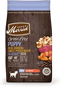 Merrick Grain Free Chicken + Sweet Potato Recipe Dry Puppy Food, 4 lbs.