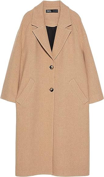 Zara 7973244802 Manteau Imitation Peau de Mouton pour