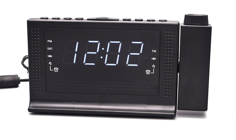 Amazoncom 1A2BVV Projection Alarm Clock Radio with