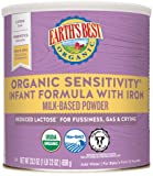 Earth's Best Organic Low Lactose Sensitivity Infant Powder Formula with Iron, Omega-3 DHA and Omega-6 ARA, 23.2 oz.