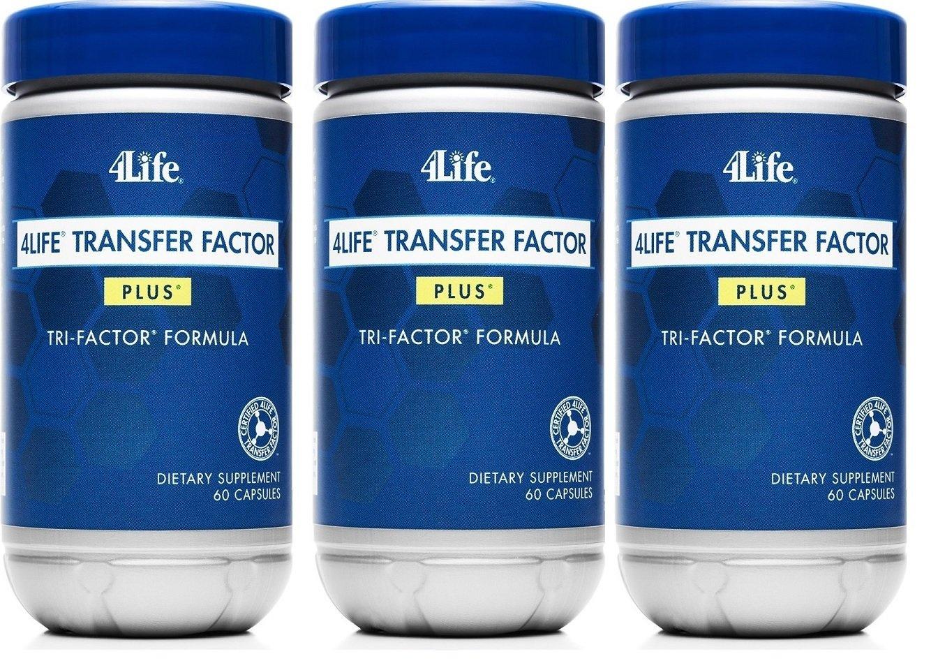 x 3 Transfer Factor Plus Tri-factor – 60 count 3 Bottles by Transfer Factor Plus Tri-Factor