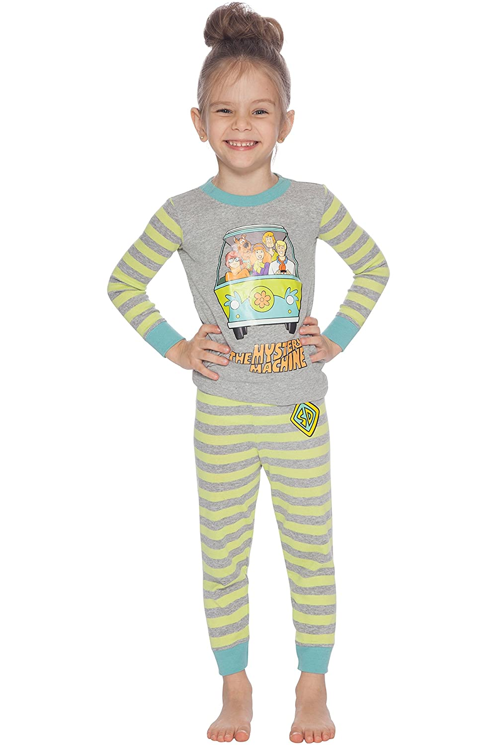 66726ee065 Amazon.com  Scooby Doo Boys Mystery Machine Pajama Set  Clothing