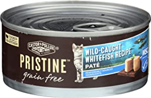 Castor & Pollux, Cat Food Whitefish Wild Caught Grain Free, 6 Ounce
