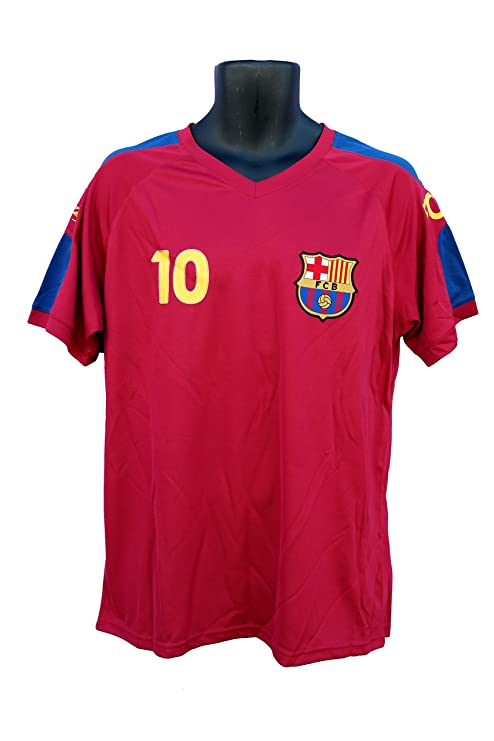cd1766d28 FC Barcelona Messi Number 10 Officially Licensed Adult Soccer Signature  Performance Poly Jersey Rhinox-004
