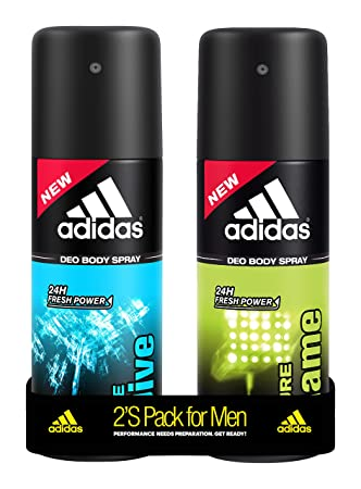 Adidas Pure Game and Ice Dive Deodorant Body Spray Combo (Pack of 2), 150ml