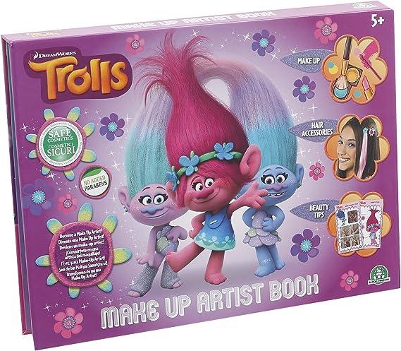 TROLLS - Make up artist book, estuche de maquillaje (Giochi Preziosi TRL07000): Amazon.es: Juguetes y juegos