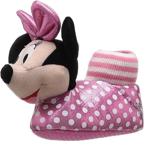 Josmo Character Shoes Disney Minnie Head Slipper (ToddlerLittle Kid)