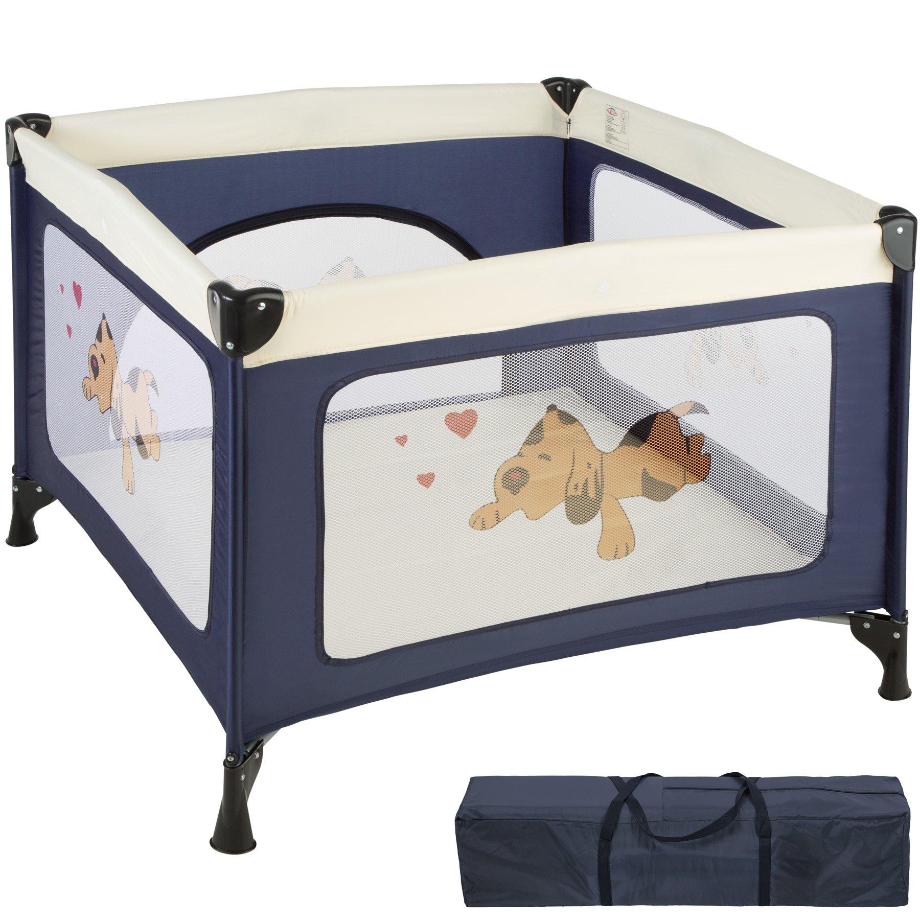 TecTake Parque para bebé Cuna Infantil de Viaje portátil (Azul   No. 402205)