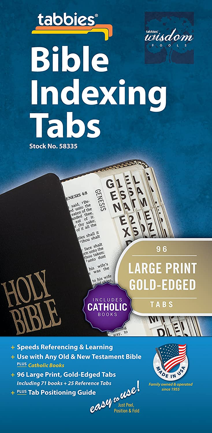 Tabbies Rainbow Catholic Bible Indexing Tabs Old /& New Testaments Catholic Books 71 Books /& 19 Reference Tabs 58348 90 Multi-Colored Tabs Inc