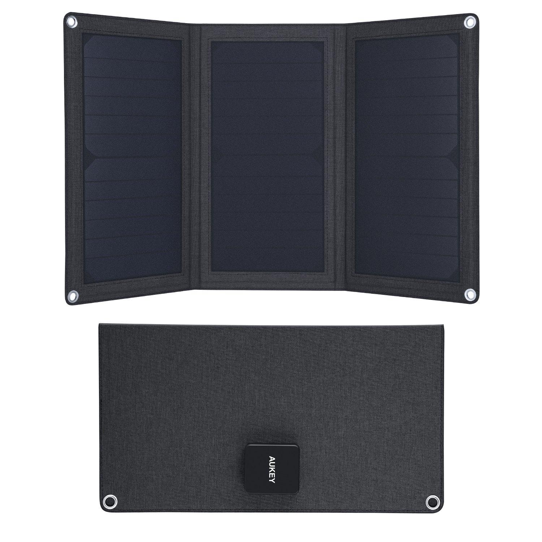 AUKEY Caricabatteria Solare 21W con 2 Porte USB