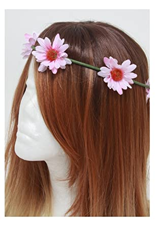 Pink Daisy Flower Crown Headband 5cf18982516