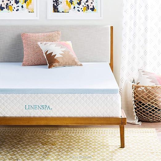 Amazon Com Linenspa 2 Inch Gel Infused Memory Foam Mattress