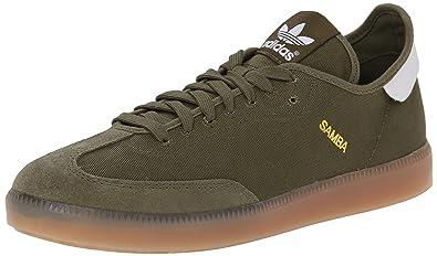 5d08c5d103c153 adidas Originals Men's Samba MC Lifestyle Indoor Soccer-Style Sneaker,  Olive Cargo/Running