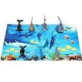 Fun Central AZ912 7ct 5 Inch Sharks Tub, Shark Toy Set, Shark Bath Tub, Shark Toys for Kids, Ocean Themed Party, Science Project, Marine Life, Sea Creature, Plastic Animal Figures
