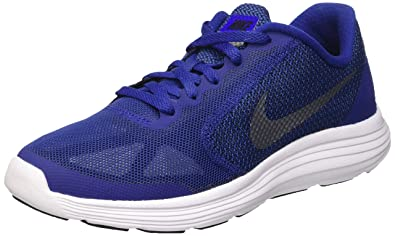 9ade2a4069d Nike Boys  Revolution 3 (Gs) Running Shoes Grey  Amazon.co.uk  Shoes ...