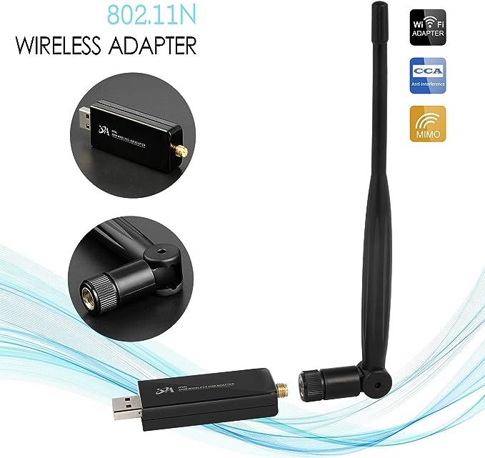 Oja adaptadores USB inalámbrico Wifi de 300 Mbps con 5dBi ...