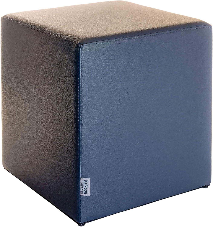 Kaikoon Pouf Grigio Scuro Dimensioni 43/cm x 43/cm x 48/cm