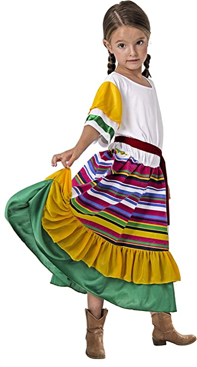 Costumizate! Disfraz de Mexicana Talla 1-3 Especial para niños ...