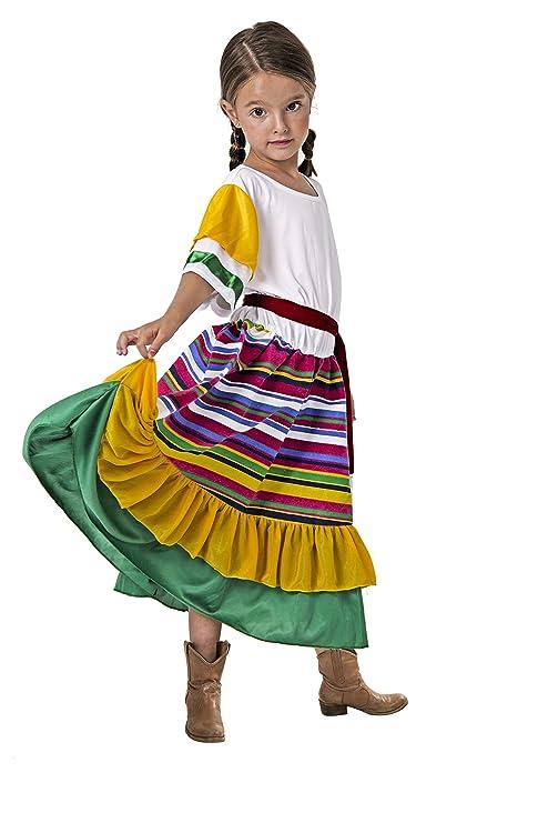 Costumizate! Disfraz de Mexicana Talla 10-12 Especial para niños Fiestas de Disfraces o Carnaval