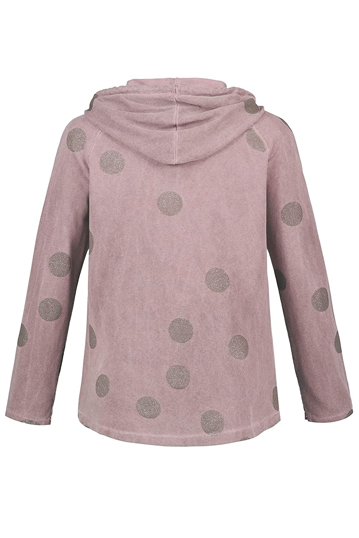 Ulla Popken Womens Plus Size Glitter Dots Sweater Jacket 721274